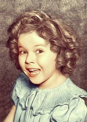 Temple Digital Art - Shirley Temple, Actress by Mary Bassett