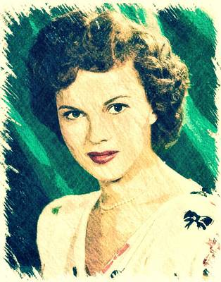 Shirley Temple By John Springfield Art Print by John Springfield