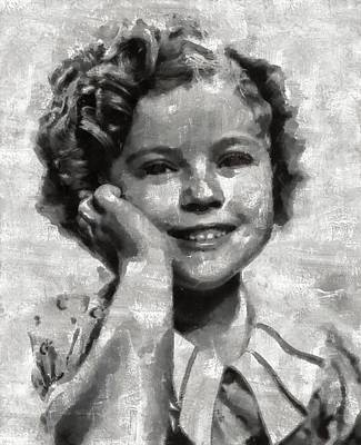 Shirley Temple By Mary Bassett Art Print by Mary Bassett
