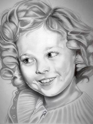 Shirley Temple Drawing - Shirley Temple by Fred Larucci