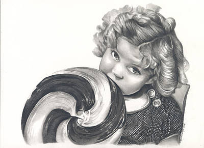 Shirley Temple Drawing - Shirley Temple by Heather Andrewski