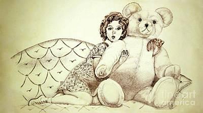 Drawing - Shirley Temple by Linda Simon