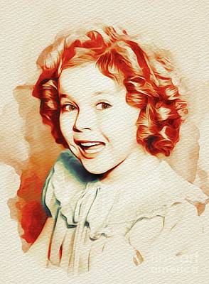 Shirley Temple Painting - Shirley Temple, Movie Star by John Springfield