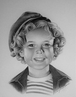 Shirley Temple Drawing - Shirley Temple by Rita Niblock