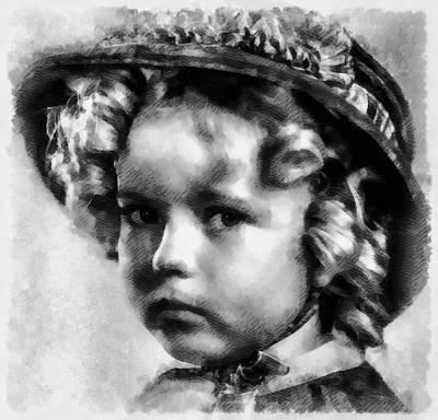 Shirley Temple Painting - Shirley Temple Vintage Actress by Frank Falcon