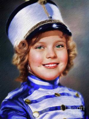 Shirley Temple Painting - Shirley Temple, Vintage Actress by Mary Bassett