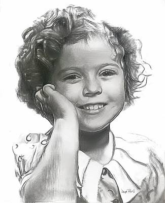 Shirley Temple Drawing - Shirley Temple by Wayne Pascall