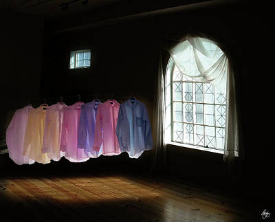 Photograph - Shirts In A Room Of Darkness And Light by Wayne King