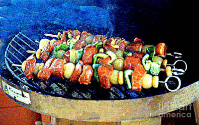 Photograph - Shish-ka-bob On The Grill by Merton Allen
