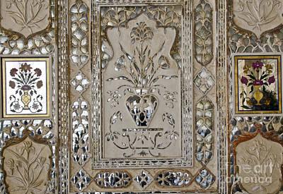 Mosaic Mirrors Photograph - Shish Mahal. Mirror Mosaic. by Elena Perelman