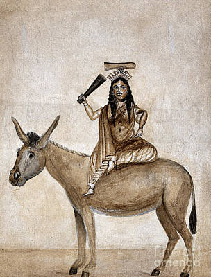 Shitala Mara, Hindu Goddess Of Smallpox Art Print