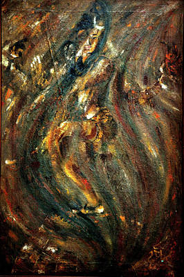 Painting - Shiva Eternal Dance - Vintage by Harsh Malik