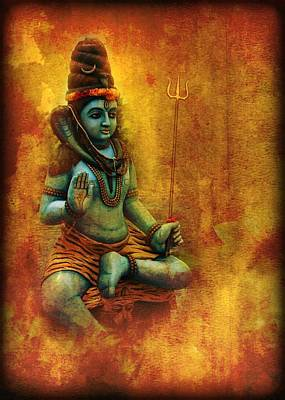 Digital Art - Shiva Hindu God 2 by John Wills