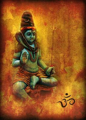 Digital Art - Shiva Hindu God by John Wills