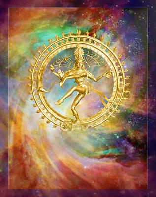 Shiva Nataraja - The Lord Of The Dance Art Print by Ananda Vdovic