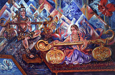 Painting - Shiva Parvati by Harsh Malik