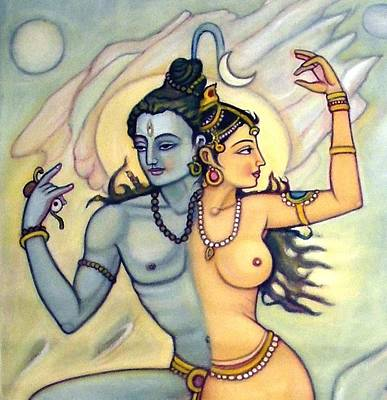 Shiva-shakti Or  Soul-nature Art Print by Upendra Ratra