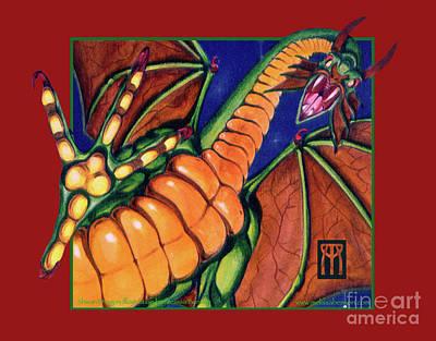 Magic The Gathering Mixed Media - Shivan Dragon by Melissa A Benson