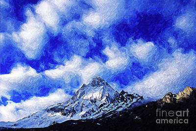 Digital Art - Shivling Peak 1 by Anil Sharma