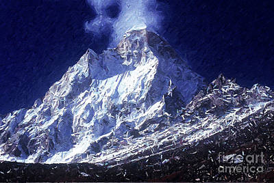 Digital Art - Shivling Peak 2 by Anil Sharma