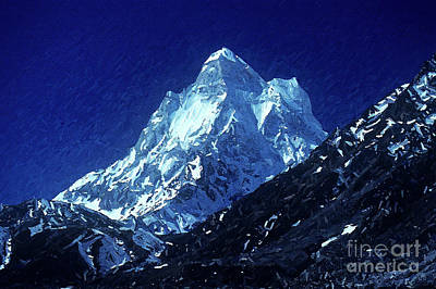 Digital Art - Shivling Peak 3 by Anil Sharma