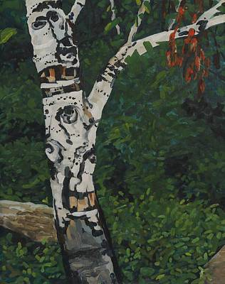Painting - Shoal Lake Birch by Phil Chadwick