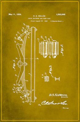 Shock Absorber Patent Drawing 1b Art Print