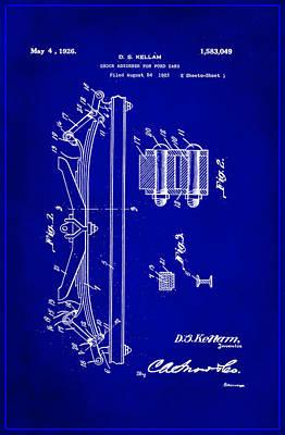 Shock Absorber Patent Drawing 1c Art Print