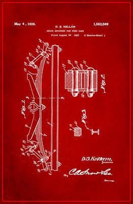 Shock Absorber Patent Drawing 1d Art Print
