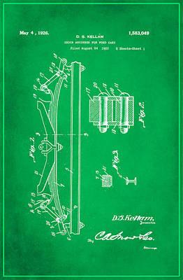 Shock Absorber Patent Drawing 1e Art Print