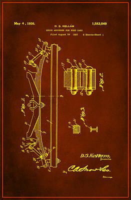 Shock Absorber Patent Drawing 1g Art Print