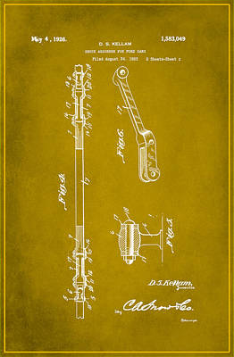 Shock Absorber Patent Drawing 2d Art Print
