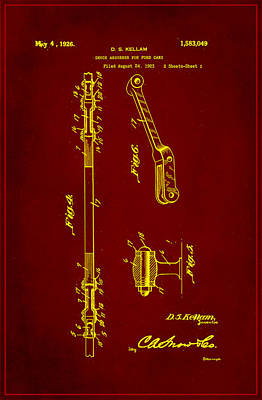 Shock Absorber Patent Drawing 2f Art Print