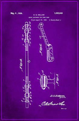 Shock Absorber Patent Drawing 2g Art Print