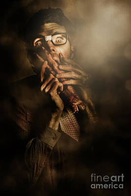 Photograph - Shock Of Terror On Fright Night  by Jorgo Photography - Wall Art Gallery