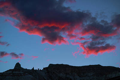 Photograph - Shocking Red Cloud Sunset Kodachrome State Park Utah by Lawrence S Richardson Jr