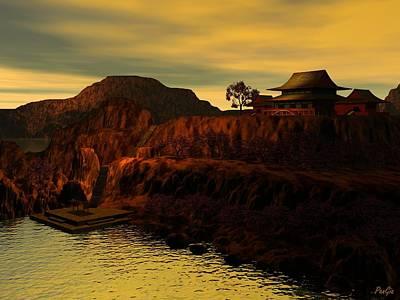 Digital Art - Shodo Island Sunrise by John Pangia