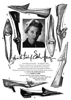 Photograph - Shoe Ad 1961 by Granger