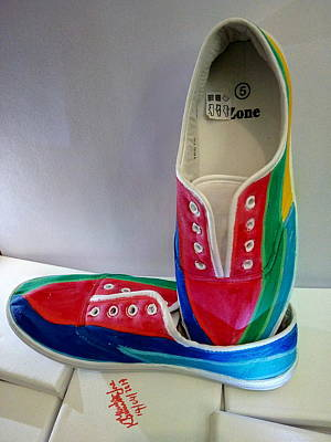 Painting - Shoe Art - 016 by Mudiama Kammoh