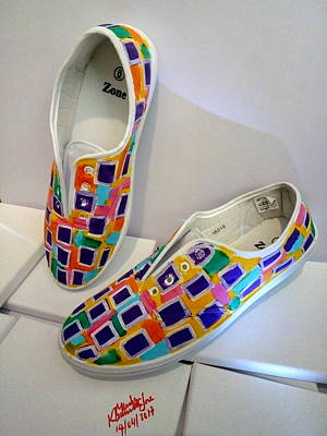 Painting - Shoe Art - 017 by Mudiama Kammoh