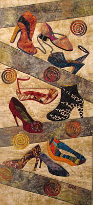 Shoe Crazy Art Print by Lynda K Boardman