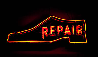 Artisan Handcrafted Photograph - Shoe Repair by Phyllis Taylor