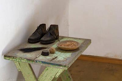 Shoe Repair Table At Eastern State Penitentiary  Art Print by Scott Kwiecinski
