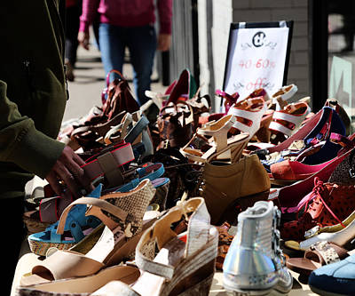 Photograph - Shoe Sale  by Jerry Cordeiro