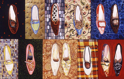 Grid Painting - Shoe Sampler by Karl Frey