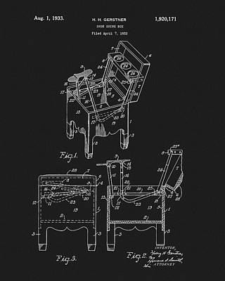 Mixed Media - Shoe Shine Box Patent by Dan Sproul