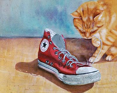 Painting - Shoe Snack by Marie Stone Van Vuuren