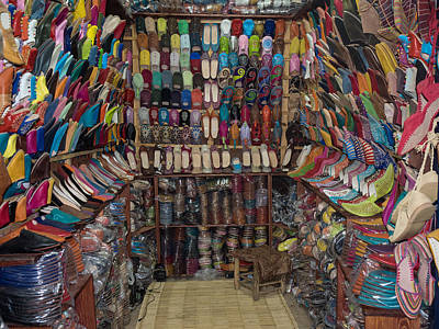 Moroccan Photograph - Shoe Store, Essaouira, Morocco by Panoramic Images