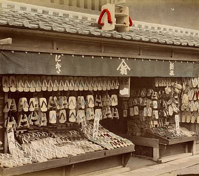 Photograph - Shoe Store In Japan, Ca. 1890 - 1894 by Vintage Printery