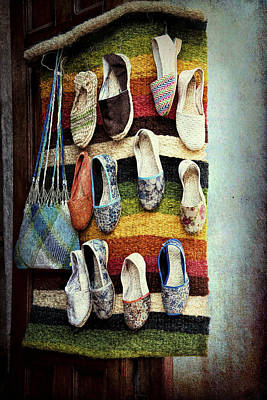 Barichara Photograph - Shoe Store by Maria Coulson